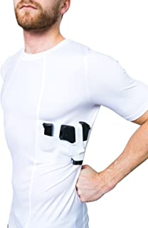 Graystone Holster Shirt Concealed Carry Clothing for Men Crew Neck - Easy Reach Gun Concealment Compression CCW Tactical Clothes