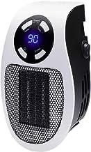 TYZY Pequeño PTC Calentador Digital Enchufe con Pantalla LED cálida soplador de Aire de Pared portátil del radiador Estufa para el Dormitorio Oficina salón 500w Blanco,EU