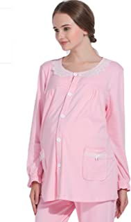 Awaye Maternity Nursing Breastfeeding Pajamas Autumn Clothes Soft Cotton Long Sleeve Nightgown