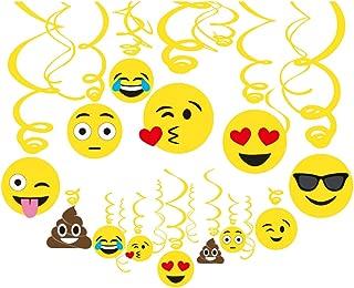 CC HOME Emoticon Party Decoration,Fun Cute Express Hanging Swirls Decoration , Emoticon Party Ceiling Streamers Decoration for Emoticon Theme Party, Birthday, Wedding Party, Graduation Holiday Festival Party Decoration 30 Ct