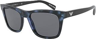 Emporio Armani EA 4142 BLUE HAVANA/GREY 55/19/145 men Sunglasses
