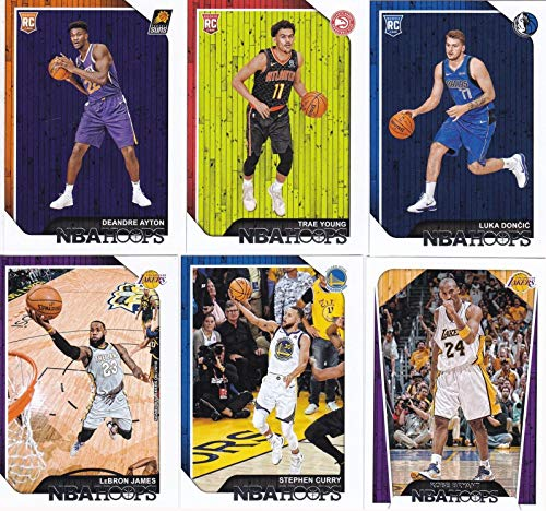 2018 2019 Hoops NBA Basketball Series Complete Mint 300 Card Set with Stars, Hall of Famers and Rookies Lebron James Stephen Curry Larry Bird Dandre Ayton Kobe Shaq and More