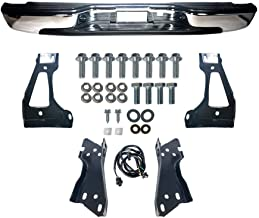 MAPM - Silverado Rear Step Bumper Chrome With Brackets Light Kit Bolts Bar GM1103122 For 1999-2006 Silverado 1500 99-04 Silverado 2500 GMC Sierra 1500 2500