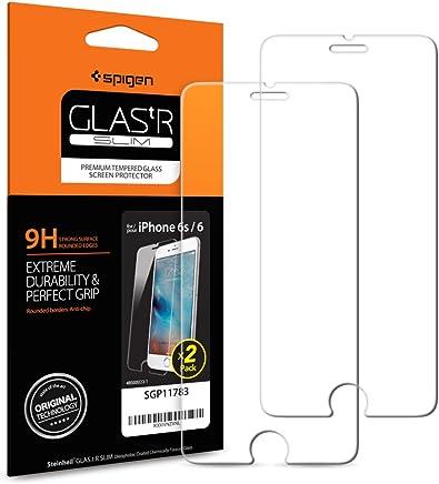 Méfiez-vous des faux vendeurs, Spigen, 2 Pack, Protection écran iPhone 6s / 6, Verre Trempé iPhone 6s / 6, [Extreme Résistant aux rayures], Ultra Clair, Film Protection iPhone 6 / 6s, Protection Vitre iPhone 6s / 6 (SGP11783)