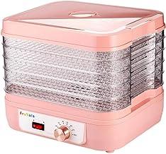 Máquina de conservación de alimentos para el hogar Deshidratador de frutas, termostato eléctrico Bandeja de cristal de 5 capas para la comida doméstica Carne o comida para perros Deshidratador de vege