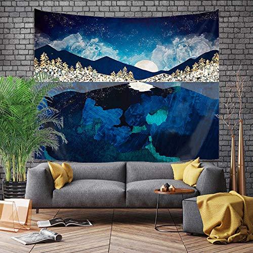 Tapiz grande de estilo japonés, dragón de ballena, pez, dragón y tótem de fénix, colgante de pared, tela de fondo bohemio, A10 130x150cm