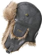 Fancet Unisex Ww2 Aviator Bomber Costume Winter Earflap Trooper Faux Leather Hat Pilot Cap 56-62cm