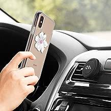 Case-Mate - Car Charms - Decorative Metal Plate + Car Vent Mount - White Flower
