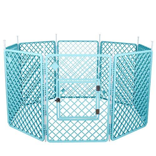 Iris Ohyama, Recinto Del Cane / Box per cani / Recinto / 8 - Pet Circle - H-908, In Plastica, Blu, 11, 4 Kg, 60 X 60 X 86 Cm