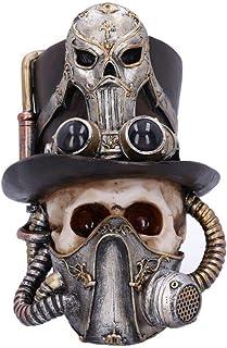 Nemesis Now Steampunk Breathe Easy Venecian Máscara Calavera Ornamento, Plata, Talla Única