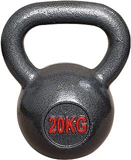 Vivol Kettlebell 20 kg gietijzer - kogelhalter gietijzer training gewicht voor gym, crossfit en fitness thuis - van 6 kg t...