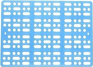 Elome(イローム) ペット 小動物 うさぎ モルモット チンチラ 樹脂 休足フロアー ケージ用 マット パッド 固定クリップ付き プラスチック製 イージーホーム用 ブルー