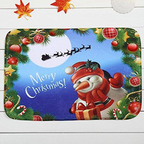 Maplehouse Paillasson Intérieur/extérieur Naturel Facile à Nettoyer à Motif Merry Christmas. entrée façon terrasse, Porte Avant, à Toutes Les intempéries extérieur, Portes, 59,9 cm (L) x 39,9 cm (L)