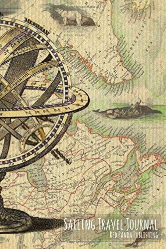 Sailing Travel Journal: Vintage Canadian & Greenland Map with Ancient Navigation Equipment and Illustrations [Idioma Inglés]