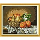 Punto de Cruz Eterno Amor De Naranja Basketful Incienso Chinos Kits De Punto De Cruz De Algodón Ecológico Decoraciones DIY Tela De Navidad For El Hogar