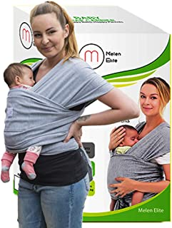 Baby Wrap Carrier Sling – Breathable Lightweight Secure Ergonomic Wrap for Active Parents – Infants Newborns Hands Free Nursing Cover – for Men and Women Perfect Baby