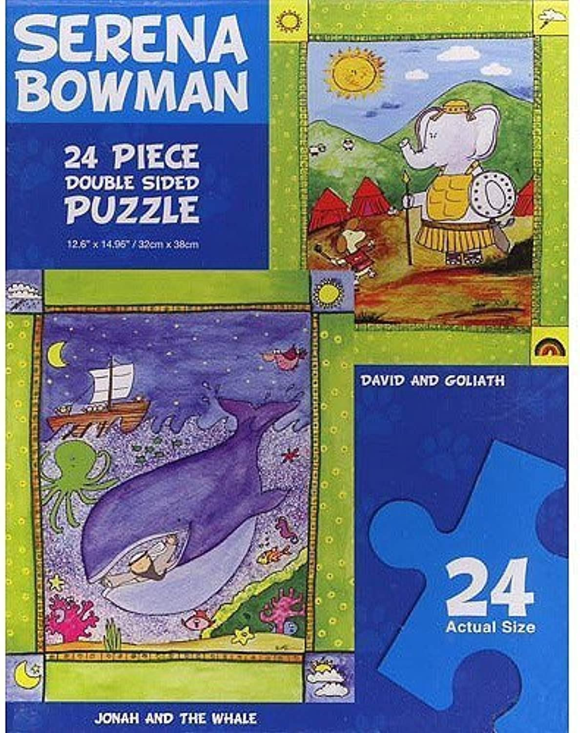 Serena Bowman Jonah and the Whale and David and Goliath Double Sided Puzzle by Painted Planet Licensing Group