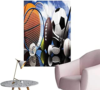 Vinyl Wall Stickers Equipment Football Soccer Darts Ice Hockey Baseball Basketball Perfectly Decorated,24