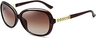 Leckirut Polarized Sunglasses for Women Vintage Oversized Fashion Rhinestone Designer UV Protection Sun Glasses