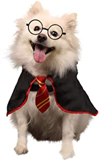 Coomour Dog Halloween Wizard Cosutme Pet Cat Puppy Cute Outfits Clothes for Small Medium Large Dogs Cats Shirt with Glasses