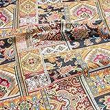 日本紐釦貿易 フランス輸入 ジャガード織 カットクロス 約160×50cm パッチ風花柄 マルチ BABY-MULTI