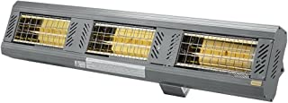 Solaira SICR45240-L1G ICR Candel Series 240V 4500W Ultra Low Light Electric Radiant Infrared Heater - Silver, Grey Finish