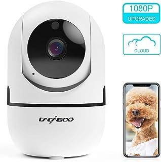 Cámara de Vigilancia 1080P Wifi con Visión Nocturna Cámara de MascotaAudio de 2 Vías Giro / Inclinación Detección de Movimiento Alarma Email Cámara de Seguridad