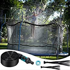 Runpo Trampoline Sprinkler Water Play 39 Feet Misting Outdoor Cooling System Kits Waterpark Summer Fun Outdoor Toys Trampoline Accessories,Sports & Outdoor Play Sprinklers Pools & Water Toys for Kids