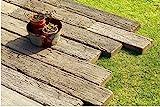 古木をリアルに再現したコンクリ-ト製.枕木 レイルスリ-パ-ペイブ (300Ⅼ(3個セット), オ-ルド)