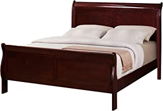 Crown Mark Crown Mark Furniture Louis Philip Twin Bed in Cherry