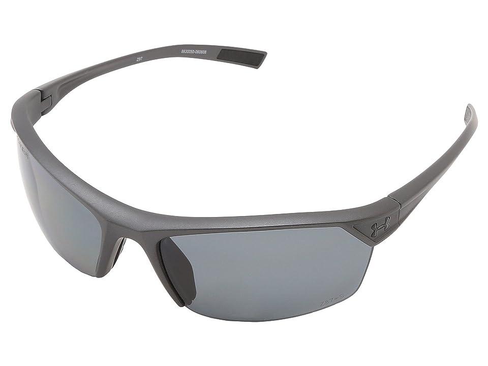 Under Armour UA Zone 2.0 Storm (Satin Carbon Frame W/ Black Rubber / Gray Polarized Lens) Sport Sunglasses