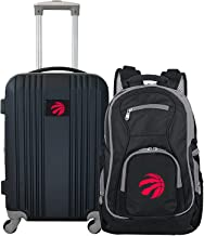 """Denco Toronto Raptors 2-Piece Luggage Set, Includes 21-inch Two-Tone Hardcase Spinner and 19"""" Laptop Backpack"""