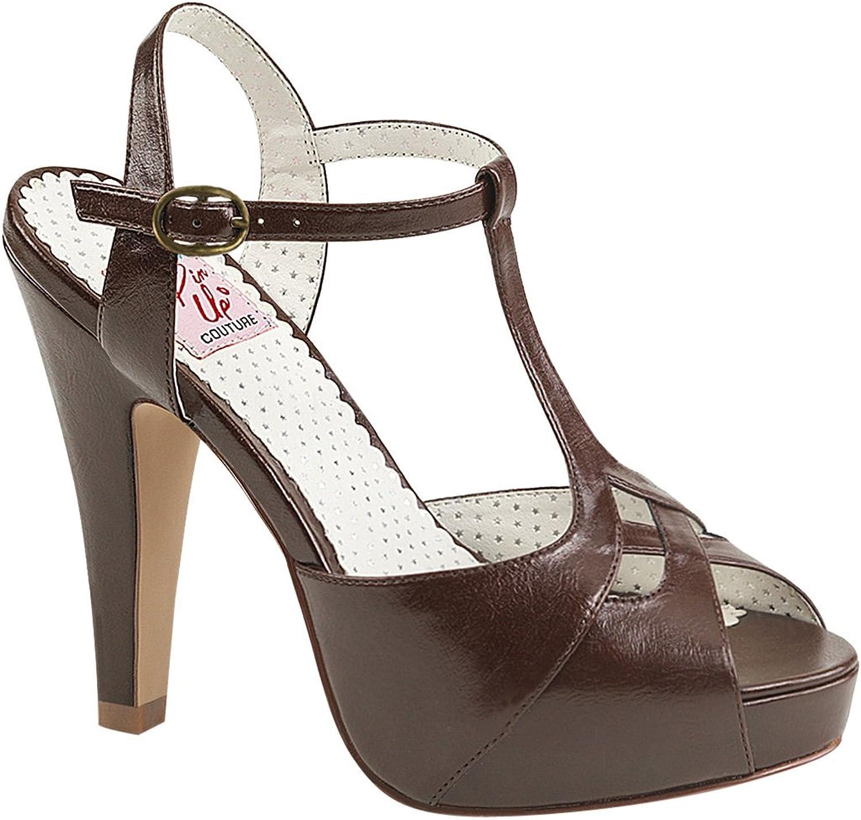 Pin Up Couture Women's Bett23 Rpu Platform Sandal