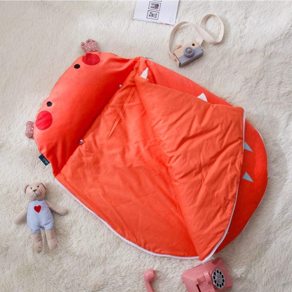 JSIHENA Gigoteuse Bébé Manches Grenouillère en Coton Enfant Automne et Hiver Sac de Couchage bébé Mignon épaississement câlin Coton Anti-Kick Orange