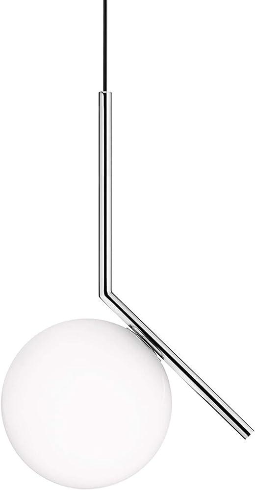 Flos lampada sospensione ic s1 vetro bianco/cromo F3175057