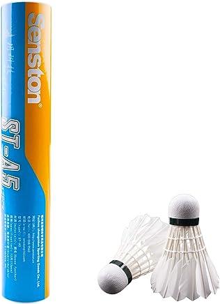 1e05db6328029 Senston A7 Volants de Badminton Training Sport Plume Blanche Volant Birdies  Badminton Jeu de Balle
