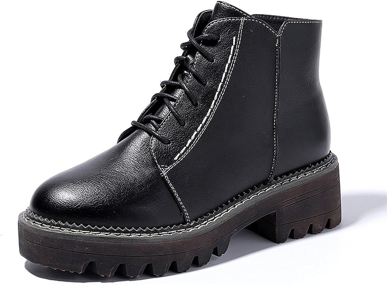 Frauen Martin Stiefel Herbst und Winter kurze Stiefel Studenten Persnlichkeit Flut Schuhe ( Farbe   Schwarz , gre   US 5\UK 4\EUR 35 )