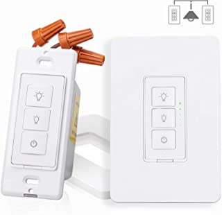 Smart 3 Way Dimmer Switch Kit, Meross WiFi Dimmer Wall Switch for Dimmable LED Light, Halogen and Incandescent Bulb, Woks with Amazon Alexa, Google Assistant and IFTTT, Remote Control, Voice Control