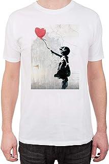 Camiseta para hombre con niña globo corazón