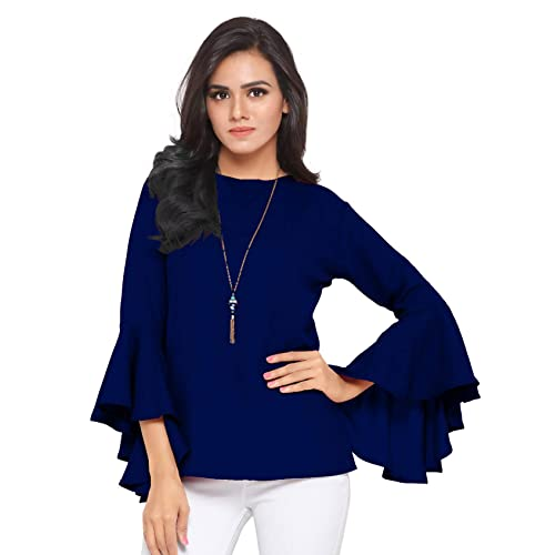 3e4f9c7a3eea75 Blue Tops: Buy Blue Tops Online at Best Prices in India - Amazon.in