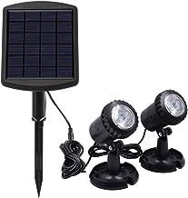 Lossky Energía Solar con energía L-ED Kit de lámpara de Buceo subacuática Sensible Control de luz Sensor Sensor Brillo bajo/Alto 2 Modos de Trabajo Ajustables Efectos IP68 Resistencia al Agua Incor