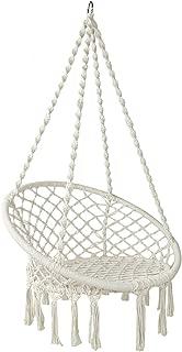 Gardeon Hammock Chair Brazilian Camping Hammock Swing for Indoor Outdoor Garden Patio - Cream