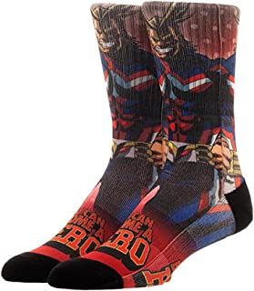 Bioworld My Hero Academia Manga All Might Men's Sublimated Crew Socks