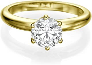 56d2c34f7a100f Diamond Ring 0.30 CT Round Cut Classic Solitaire Setting D/SI1 (Clarity  Enhanced)