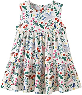 YOUNGER TREE Toddler Baby Little Girls Floral Dress Sleeveless Cute Princess Summer Casual Dresses
