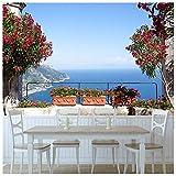 azutura Amalfiküste Italien Fototapete Blaues Meer Tapete Wohnzimmer Haus Dekor Erhältlich in 8 Größen XXX-Groß Digital