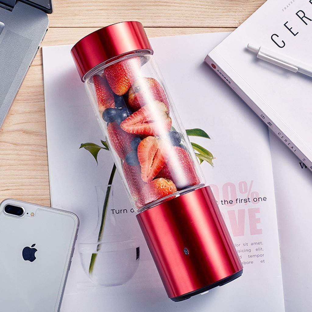 IMFFSE Mini exprimidor eléctrico para Estudiantes Taza de Jugo de Fruta Fresca portátil Uso en el hogar Cortar y moler Copa de Jugo Red