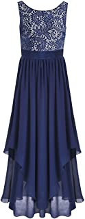 iiniim Women's Lace Chiffon V-Back Party Bridesmaid Formal Long Evening Dress