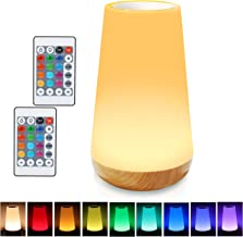 LED Night Light, TAIPOW Remote Control/Touch Table Lamp, Dimmable Bedside Lamp, Kids Baby Bedroom Lamp with Timer Function...