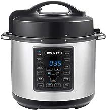 Crock-Pot Express Pressure Cooker CSC051, 12-in-1 programmeerbare multicooker, slow cooker, steamer en saut, 5,6 l, roestv...